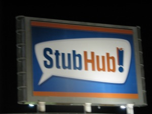 StubHub! Center sign