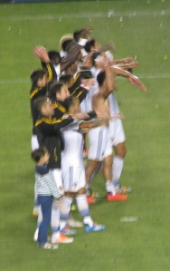 Galaxy saluting the fans